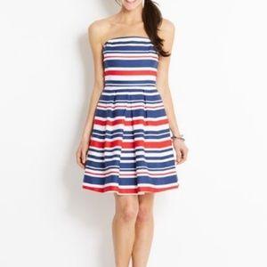 Vineyard Vines Red White & Blue Strapless Dress